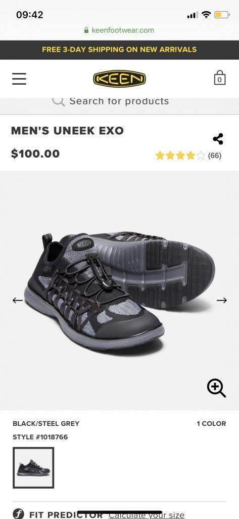 giày thể thao ngoại cỡ keen